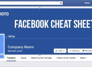 Facebook Cheat Sheet Sizes and Dimensions 2018