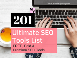 Ultimate 201 SEO Tools List [2018-19]